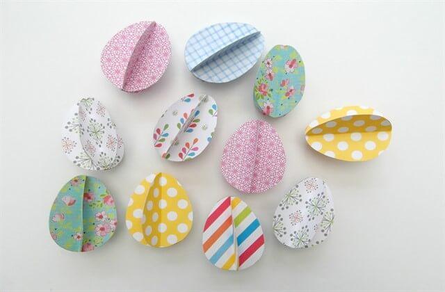 бумажные яйца к Пасхе