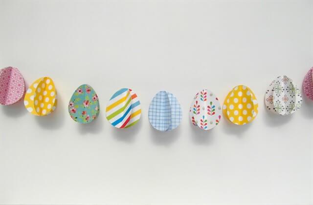 объемные пасхальные яйца из бумаги