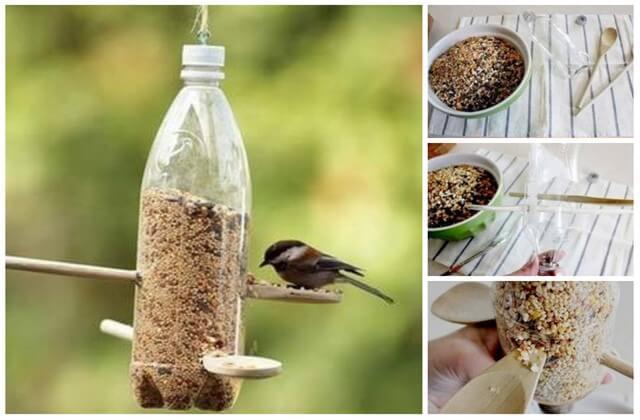 кормушка для птиц из пластиковой бутылки фото