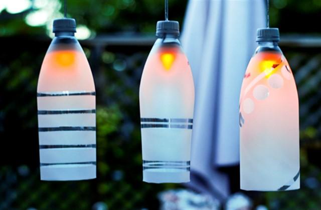 светильники из пластиковых бутылок
