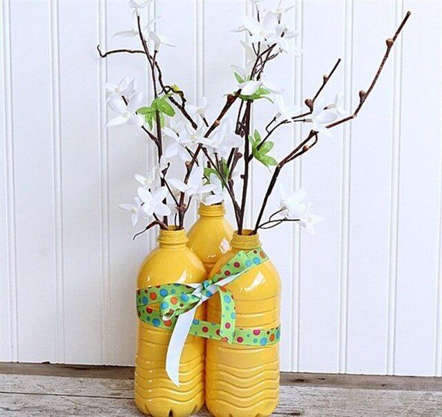 вазы из пластиковых бутылок своими руками фото
