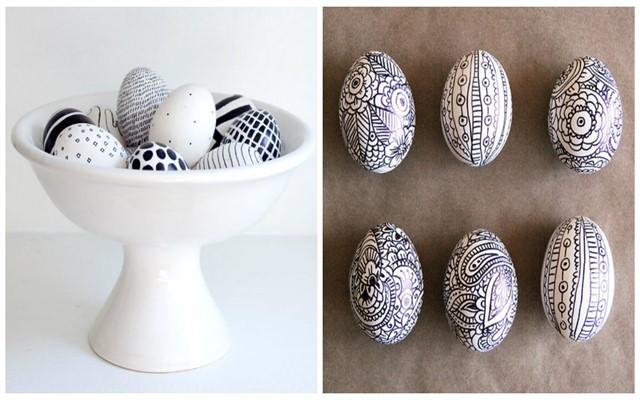 как раскрашивать яйца на пасху фломастерами