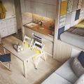 дизайн 1 комнатной квартиры 40 кв м фото с выделенным спальным местом