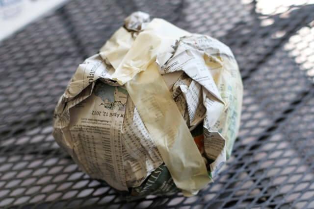 папье маше из газет как делать