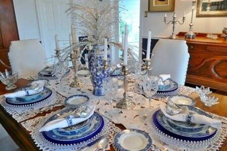 украшение стола на новый год 2017