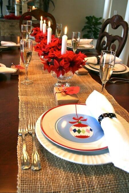 как украсить стол на новый год 2017