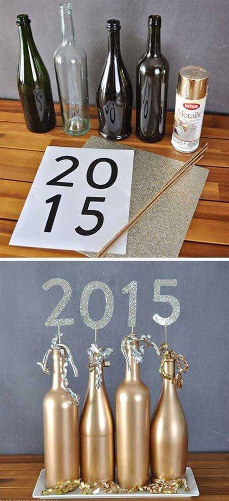как украсить шампанское на новый год своими руками