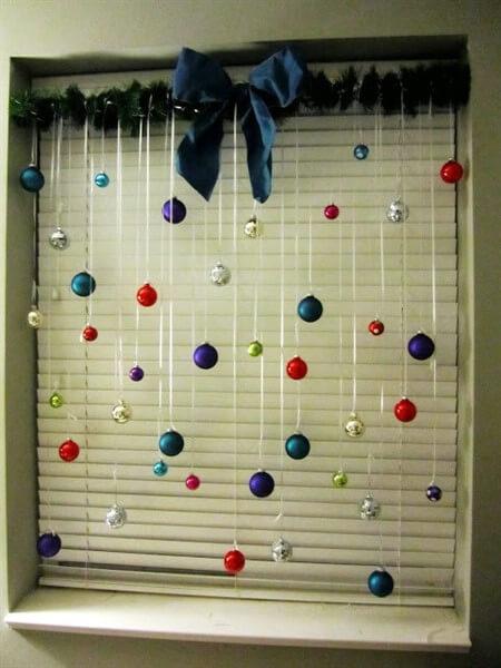 как украсить окно на новый год 2017