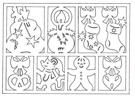 шаблоны на новый год 2017 для вырезания на окно