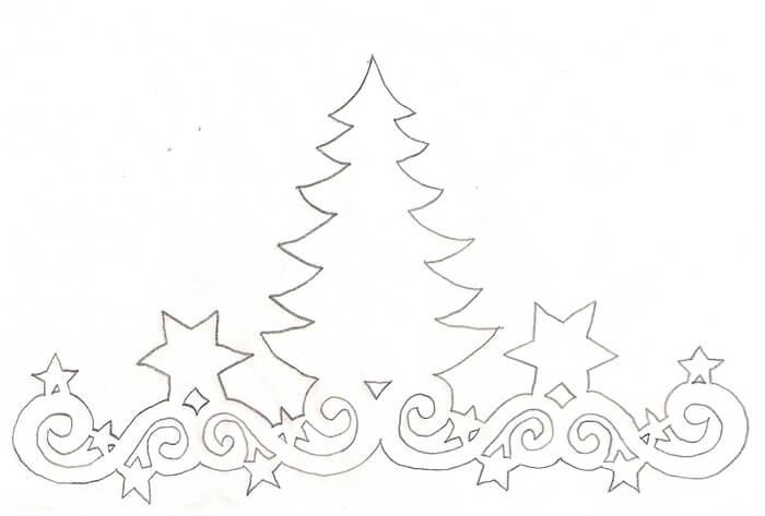 украсить окно на новый год из бумаги шаблоны распечатать
