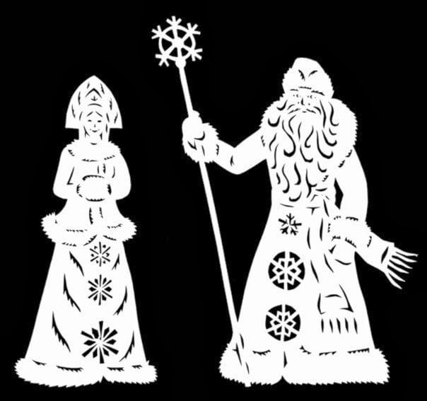 трафареты на новый год 2017 для вырезания на окно
