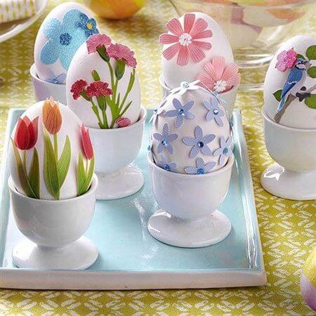 как раскрасить яйца на Пасху своими руками