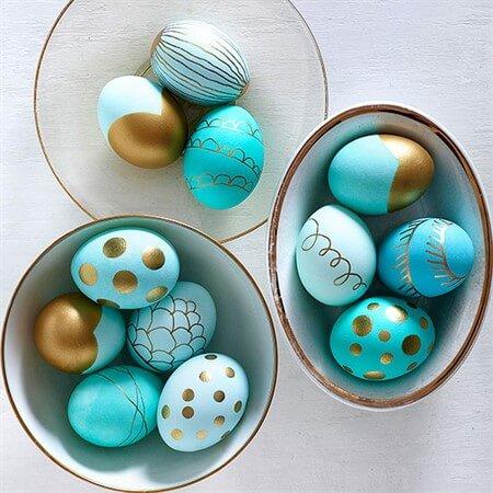 чем красить яйца на Пасху в домашних условиях