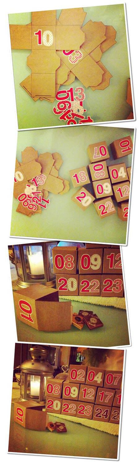 как сделать адвент календарь своими руками