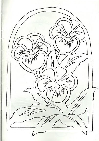 Вытынанки цветы шаблоны большие